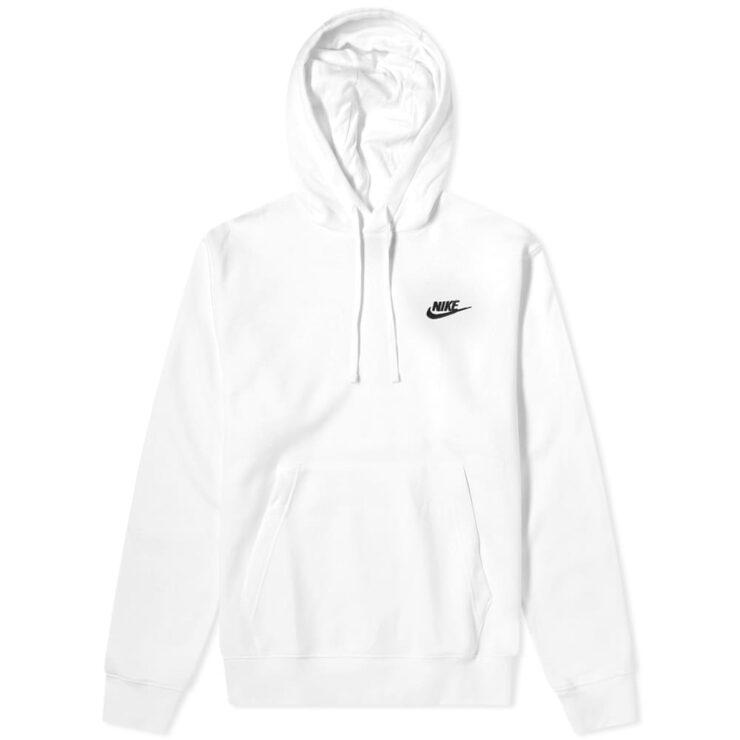 Nike Club Hoody 'White & Black'