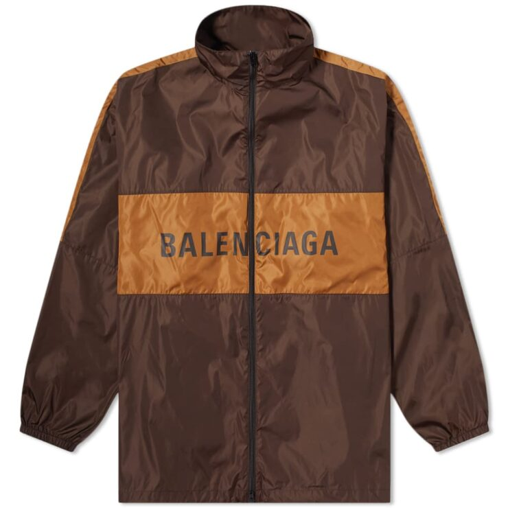 Balenciaga Logo Windbreaker Jacket 'Brown'