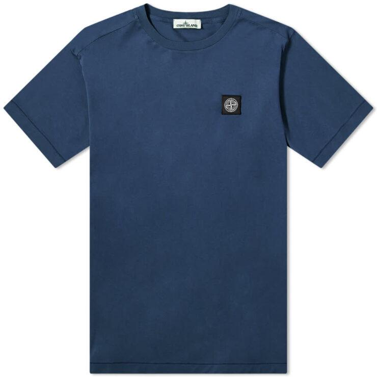 Stone Island Patch Logo T-Shirt 'Blue Marine'