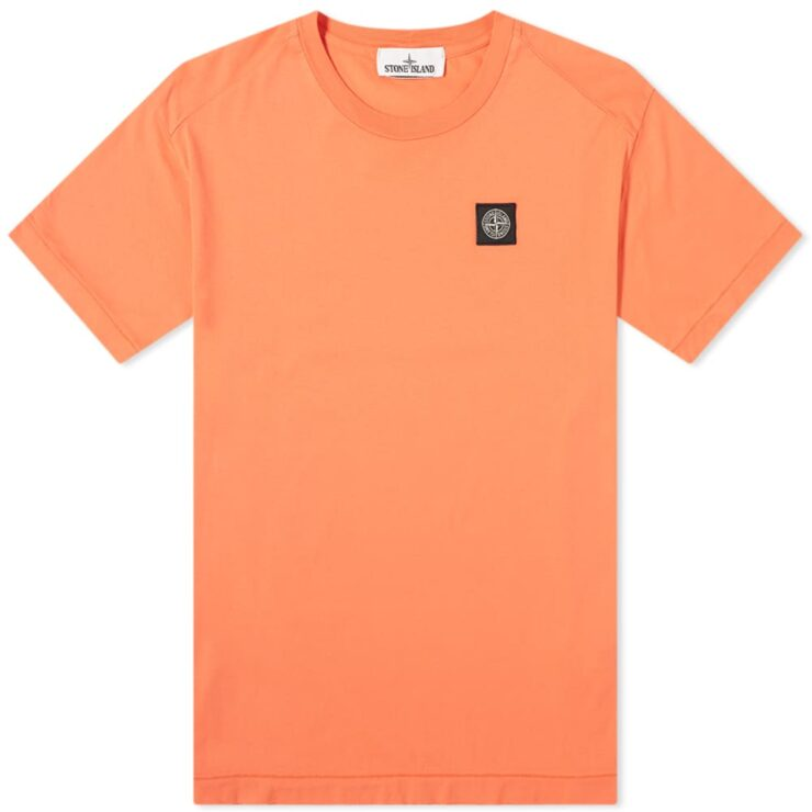 Stone Island Patch Logo T-Shirt 'Orange'