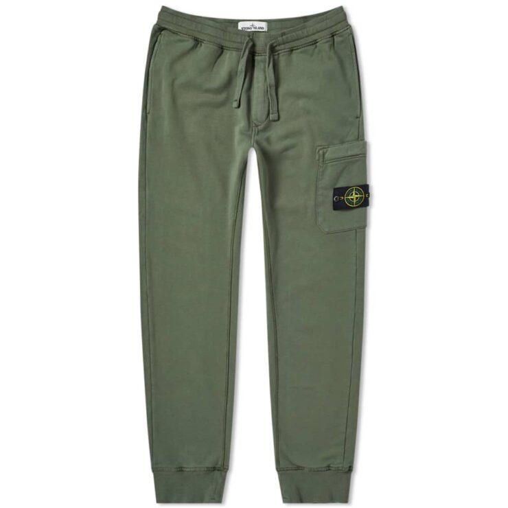Stone Island Garment Dyed Sweatpants 'Olive'