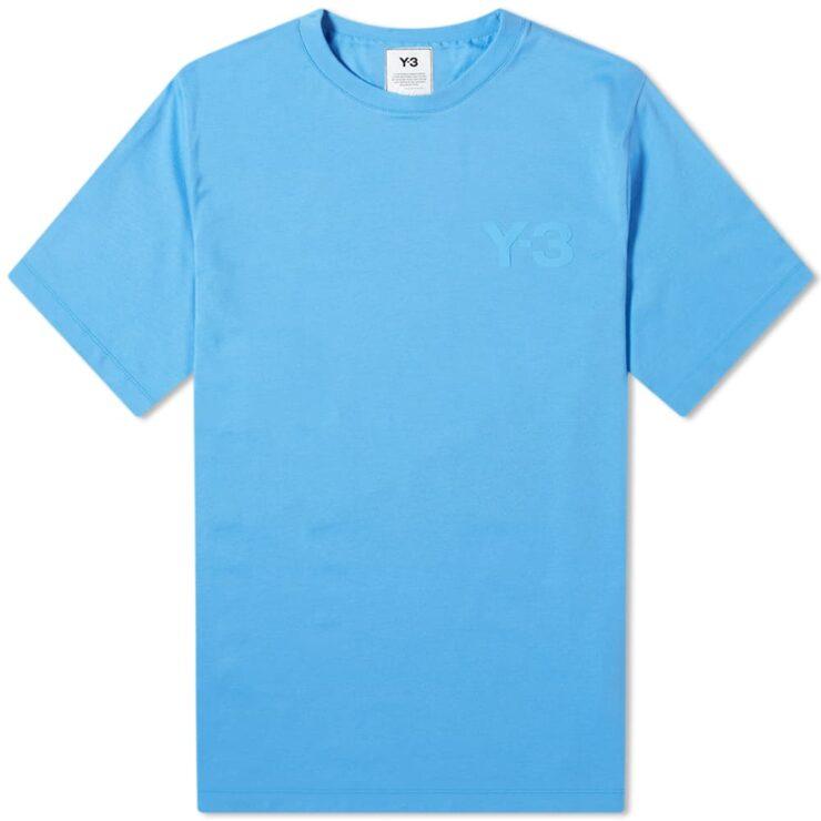 Y-3 Classic Logo Chest T-Shirt 'Blue'