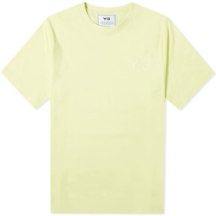 Y-3 Classic Logo Chest T-Shirt 'Yellow'