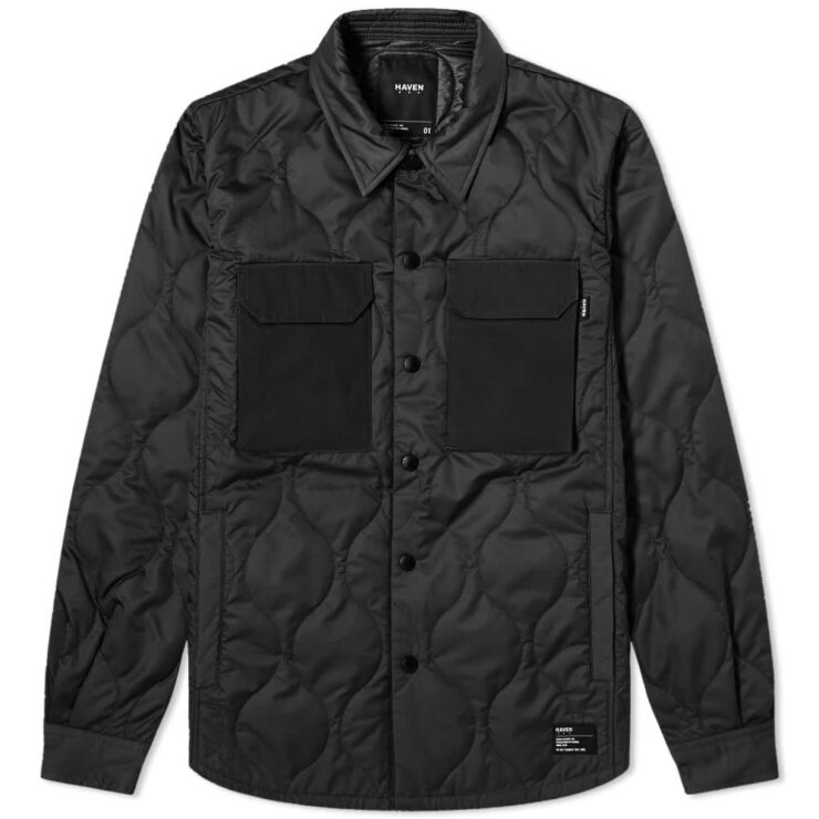 HAVEN Polar Ripstop Overshirt 'Black'