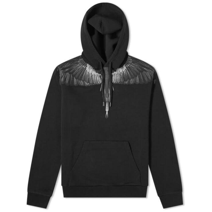 Marcelo Burlon Black Wings Hoody 'Black'
