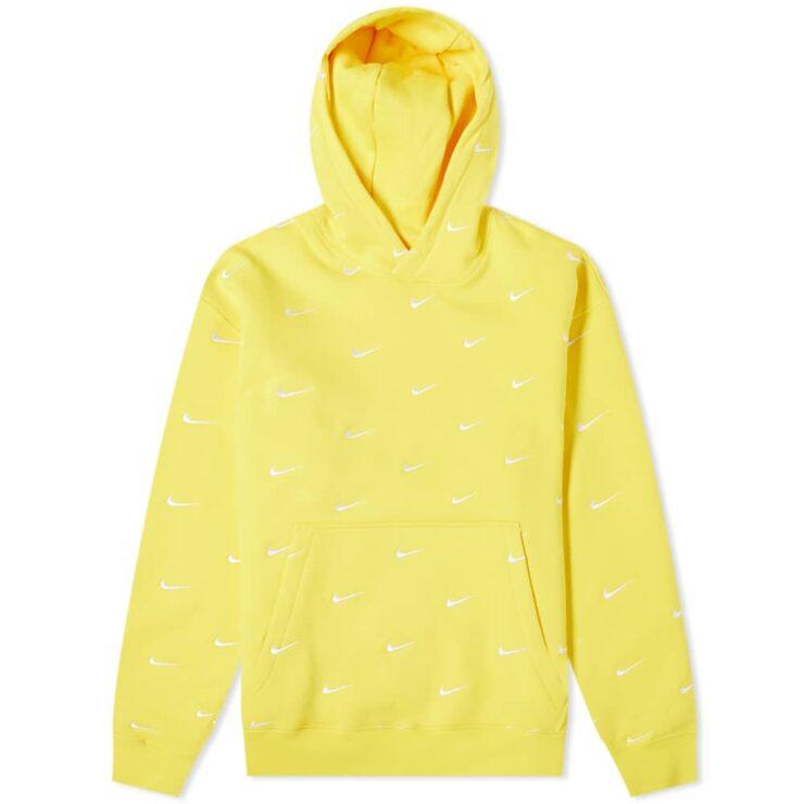 Nike NRG Embroidered Swoosh Hoody 'Yellow'