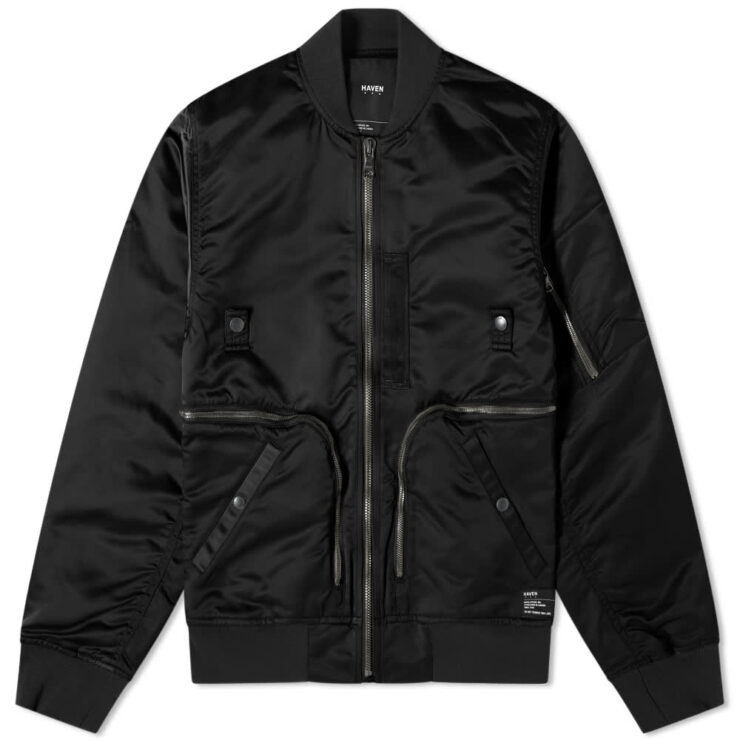 HAVEN Pilot Utility Bomber Jacket 'Black'