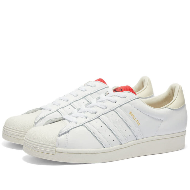 Adidas x 424 Shell-Toe 'White & Red'