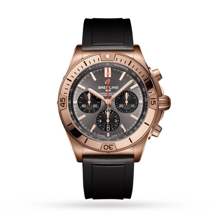 Breitling Chronomat 42mm Watch 'Rose Gold & Black'