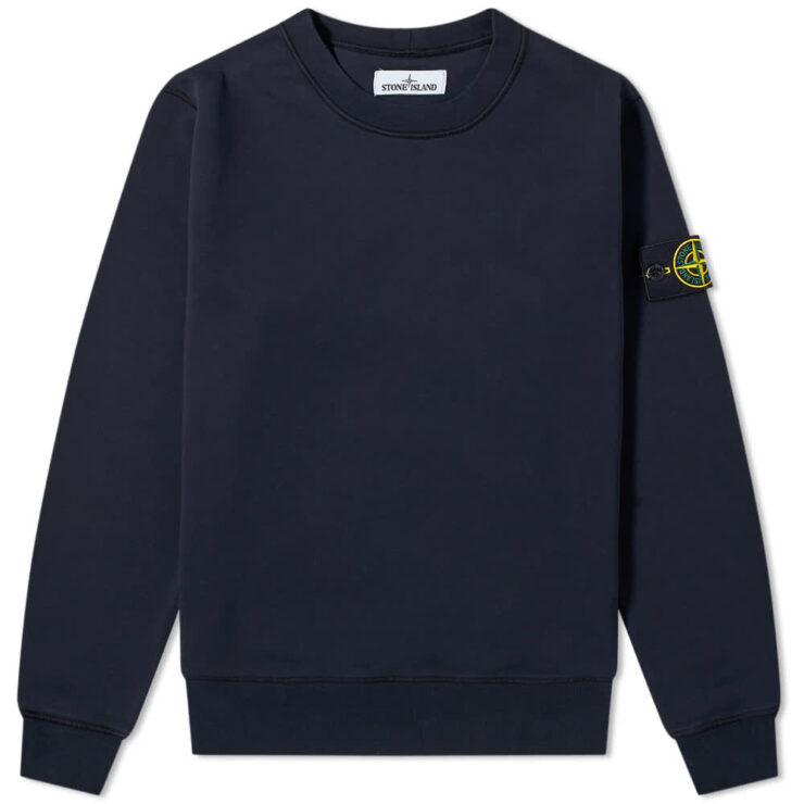 Stone Island Garment Dyed Crewneck Sweatshirt 'Navy'