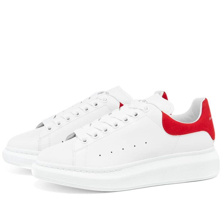 Alexander McQueen Wedge Sole Sneakers 'White & Red'