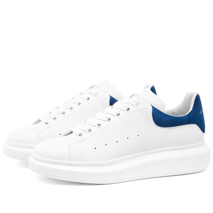 Alexander McQueen Wedge Sole Sneakers 'White & Blue'