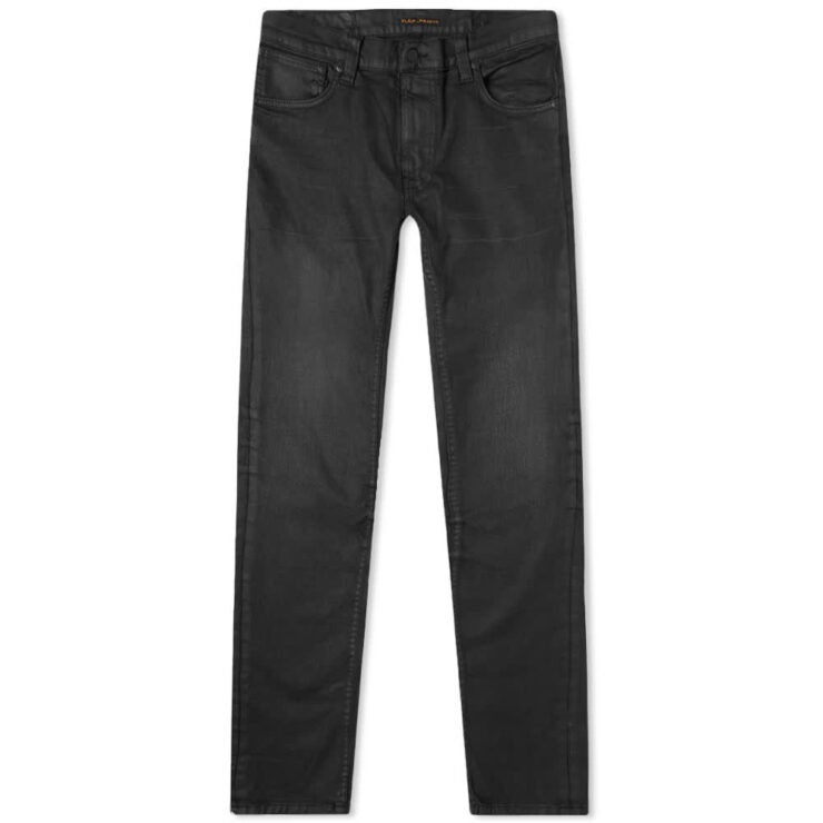 Nudie Thin Finn Jeans 'Coated Black'