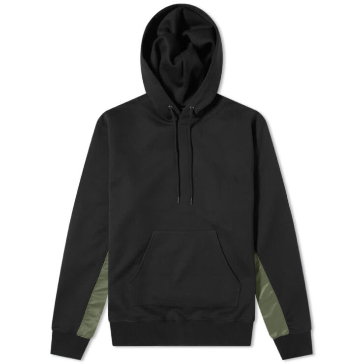 SOPHNET. Fabric Mix Hoody 'Black'