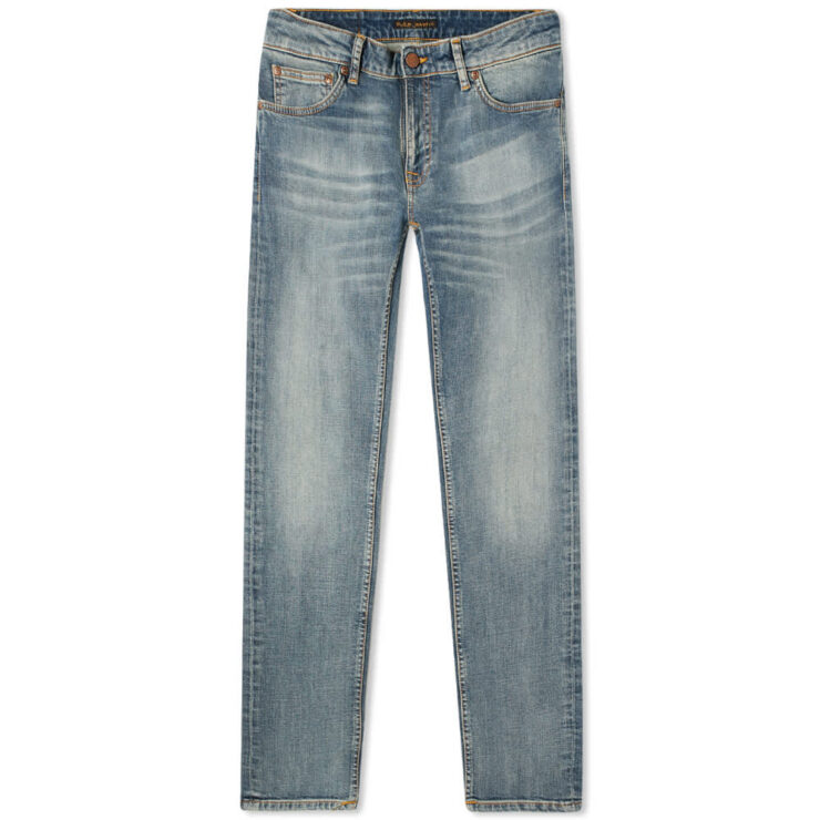 Nudie Skinny Lin Jeans 'Misty Blue'