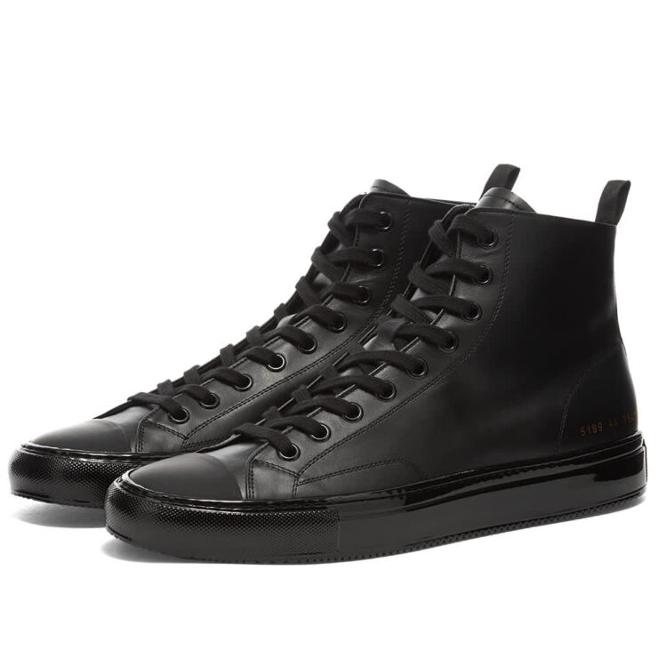 Common Projects Tournament High Sneakers 'Black'