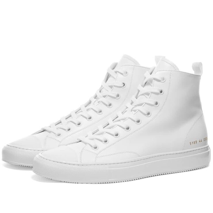 Common Projects Tournament High Sneakers 'White'