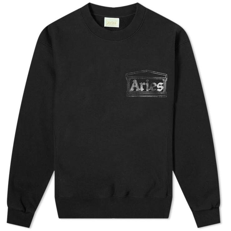 Aries Premium Temple Sweatshirt 'Black'