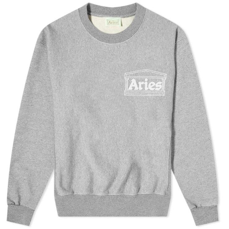 Aries Premium Temple Sweatshirt 'Grey'