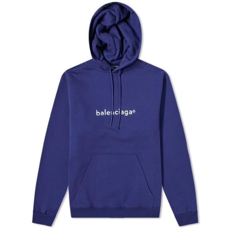 Balenciaga New Copyright Logo Hoody 'Pacific Blue'