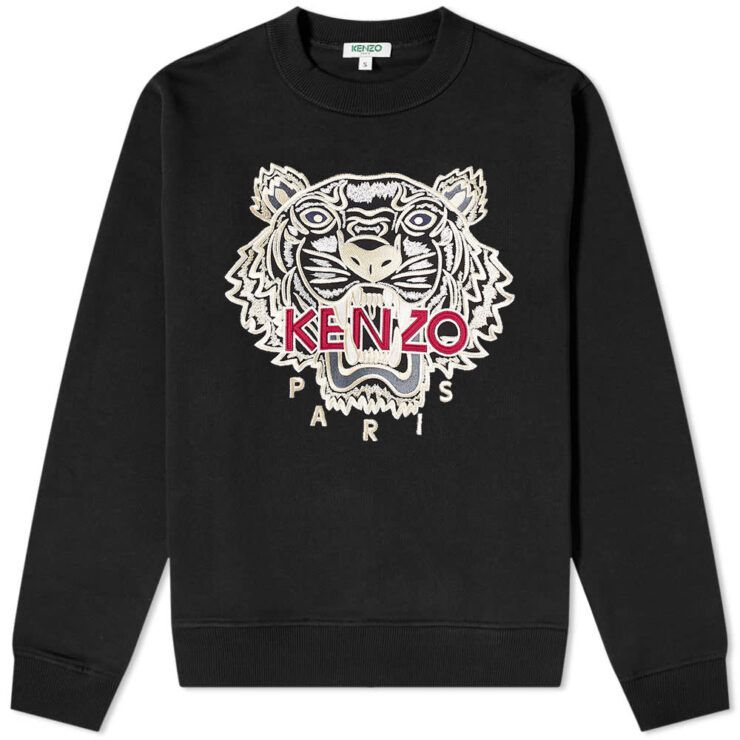 Kenzo Embroidered Tiger Varsity Sweatshirt 'Black'