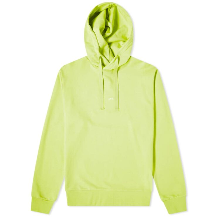A.P.C. Larry Logo Hoody 'Lime Green'