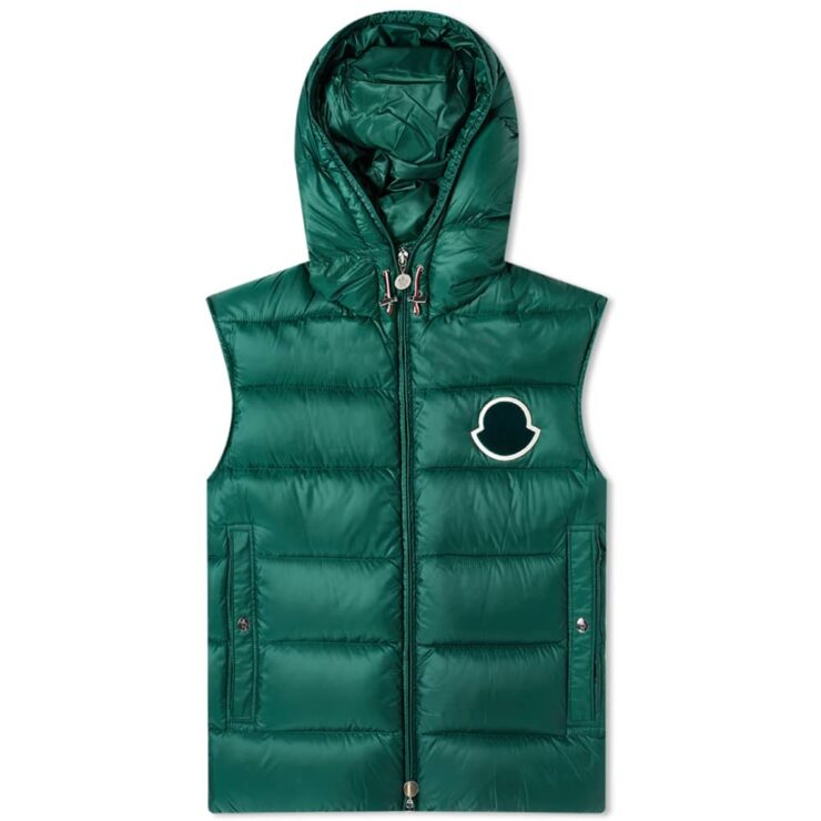 Moncler Vanoise Hooded Gilet 'Green'