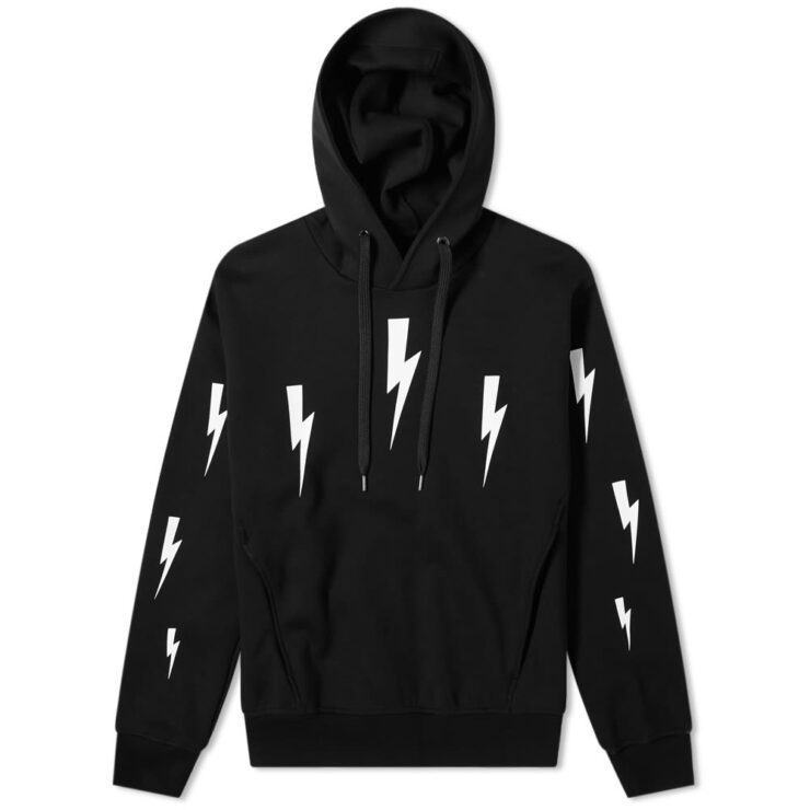 Neil Barrett Lightning Bolt Hoody 'Black'