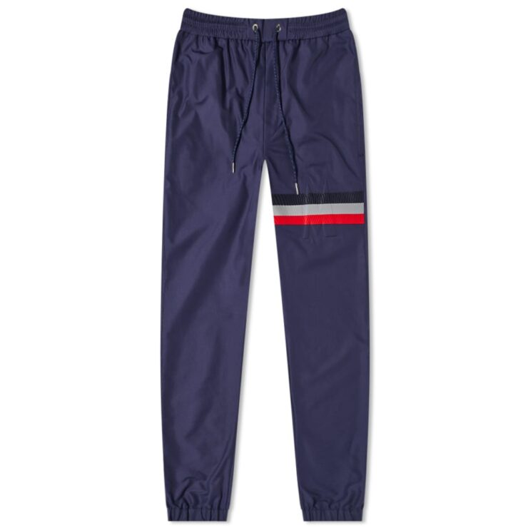 Moncler Tricolore Stripe Nylon Trackpants 'Navy'