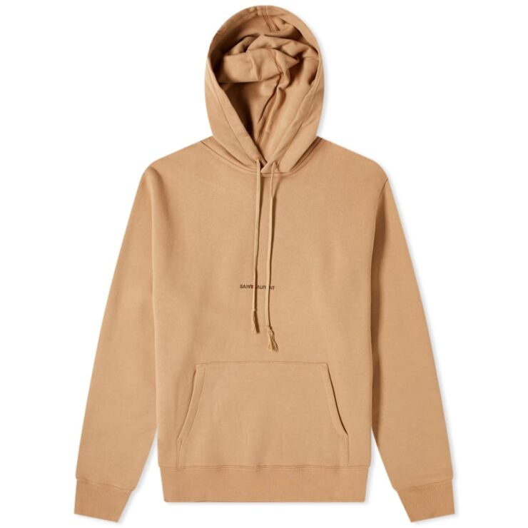 Saint Laurent Archive Logo Hoody 'Camel'