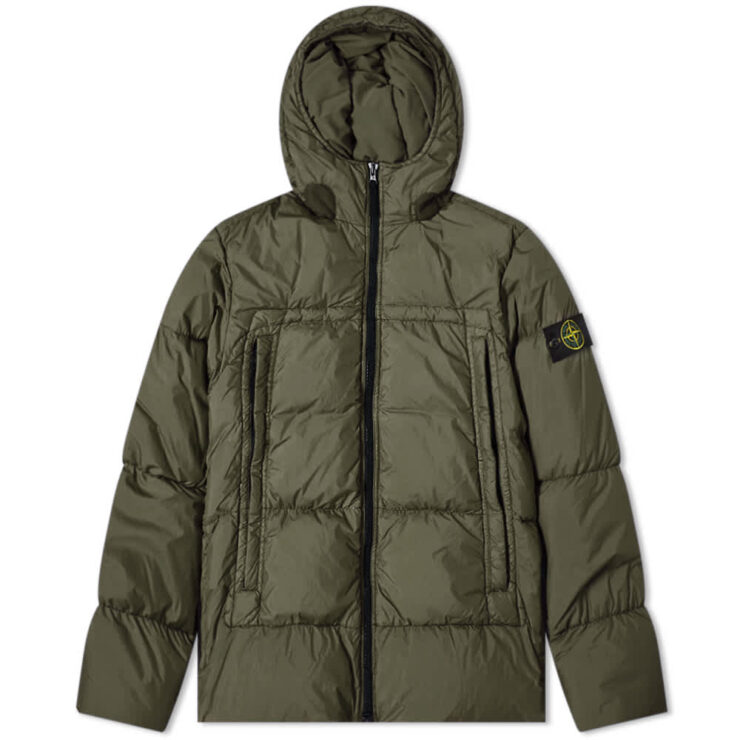 Stone Island Crinkle Reps Down Jacket 'Dark Green'