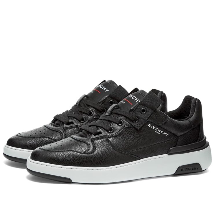 Givenchy Wing Low Leather Sneakers 'Black & White'