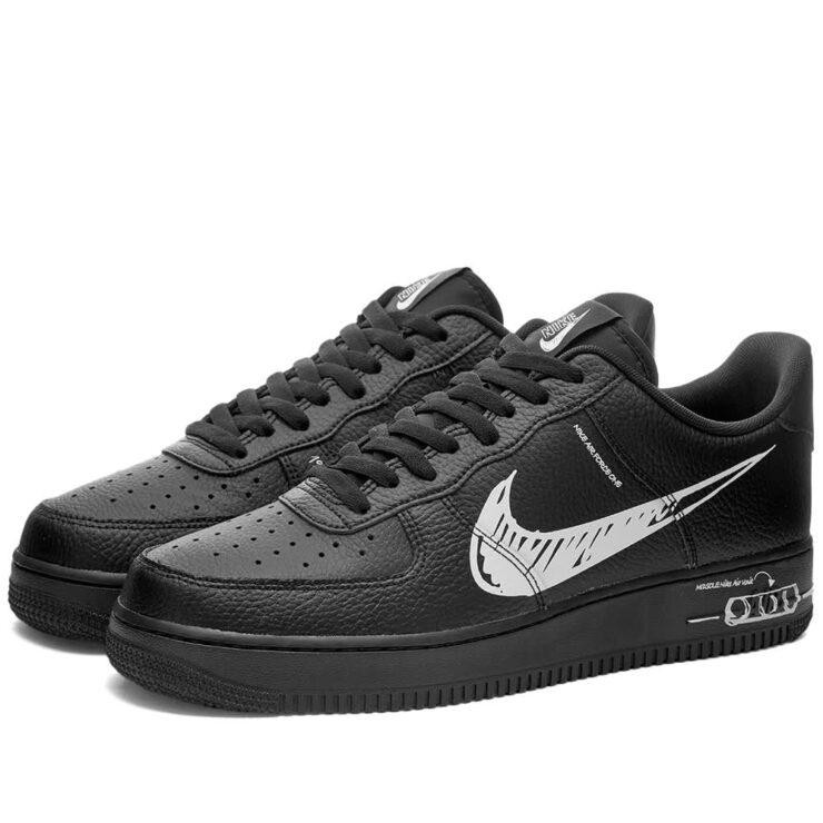 Nike Air Force 1 LV8 Utility 'Black & White'