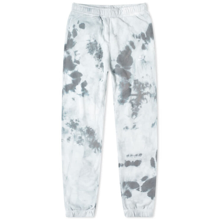 Nike Tie-Dye Club Fleece Sweatpants 'Light Grey & White'