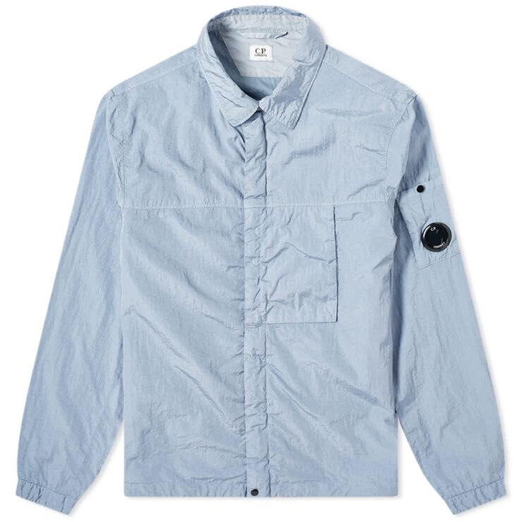 C.P. Company Nylon Zip Overshirt 'Blue Fog'