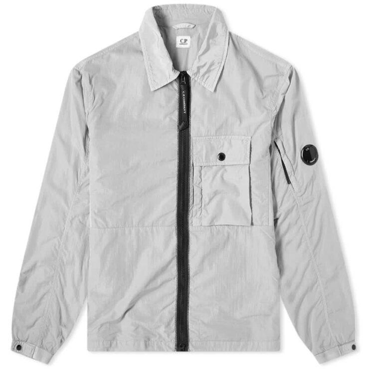C.P. Company Nylon Zip Overshirt 'Quiet Grey'