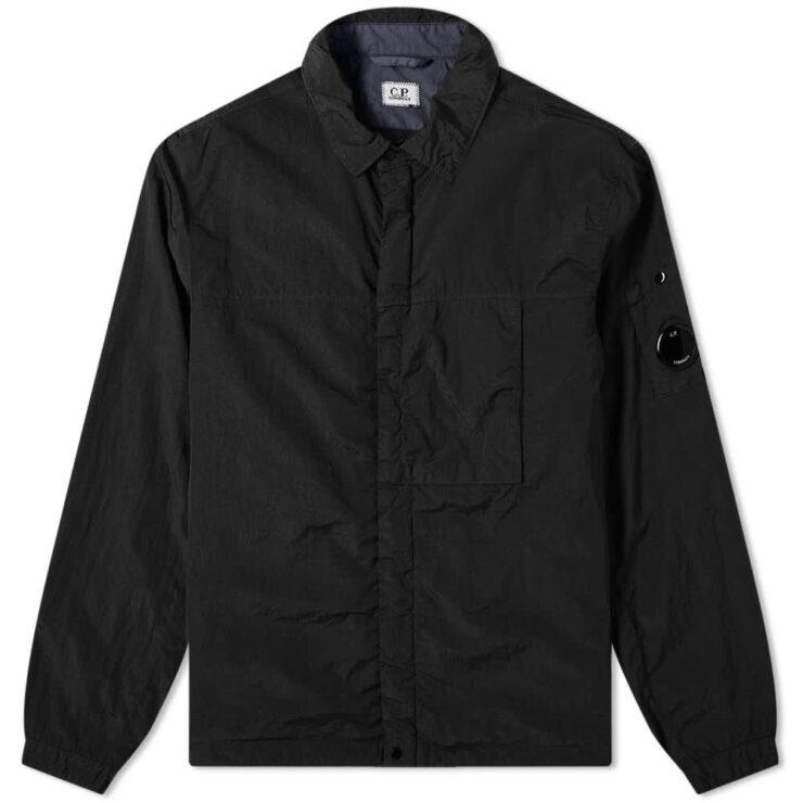 C.P. Company Nylon Zip Overshirt 'Black'