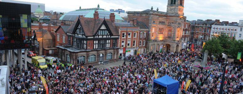 Market place crowd