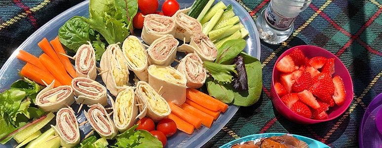 Picnic lunch spread