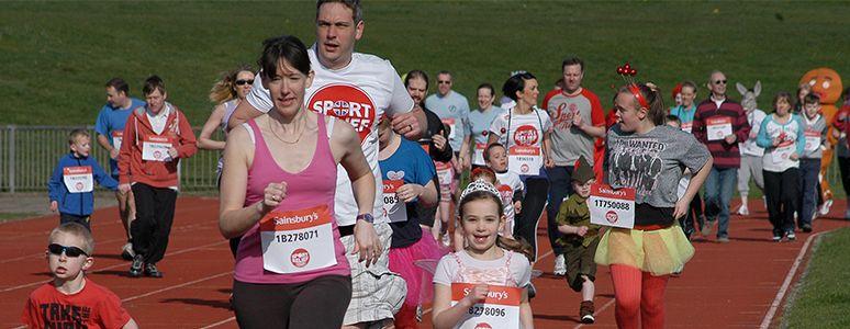5k run at Moorways Stadium