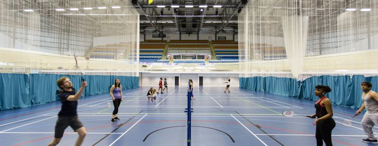 Sports courts at Derby Arena