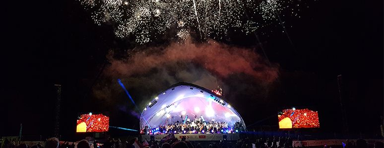 Stage view at Darley Park Concert