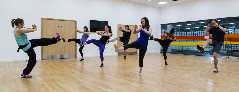 Group exercise classes at the Arena