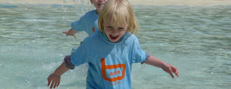 Water play at Markeaton Park