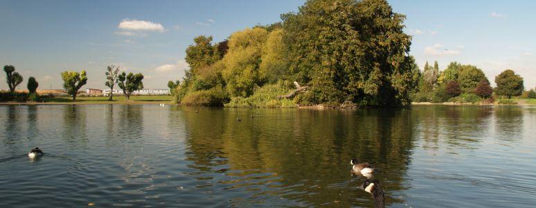 Markeaton Park lake
