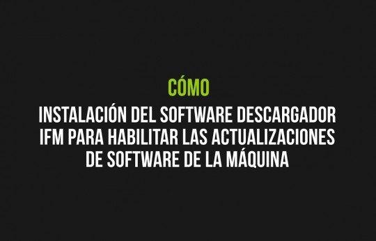 Instalación del software Descargador IFM