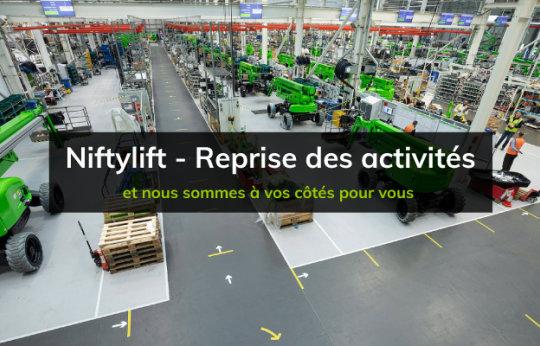 Niftylift reprend ses activités pour la relance de l'industrie