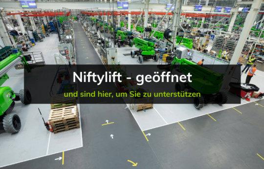 """Niftylift ist mit Produktionsaufnahme wieder """"geöffnet"""""""