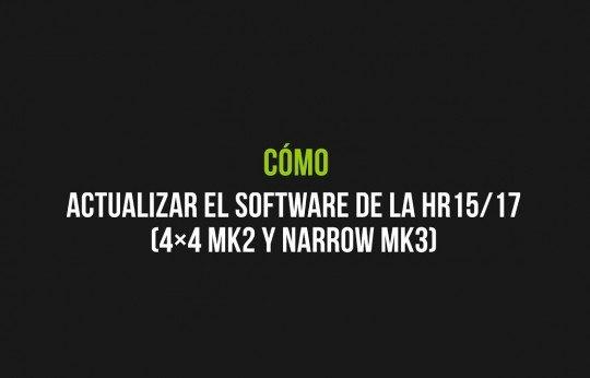 Mise à jour du logiciel de la nacelle HR15/17 (4×4 MK2 et MK3 à gabarit étroit)