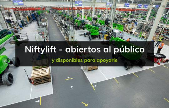 Niftylift está 'Abierto al público' con el reinicio de la fabricación